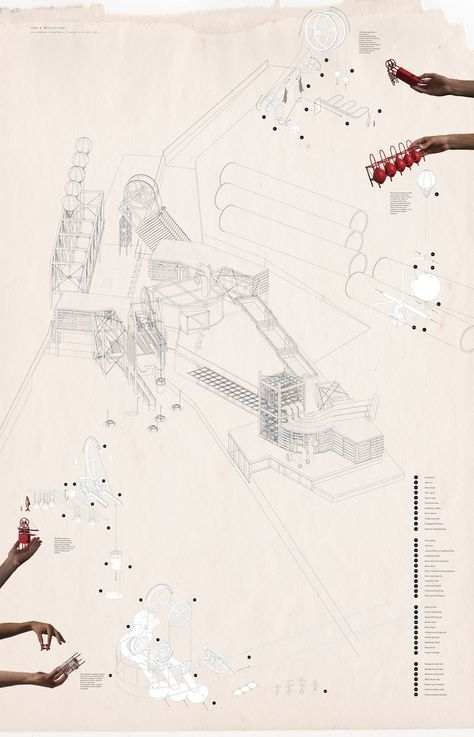 MATS LOVES IT: Axonometric production collage