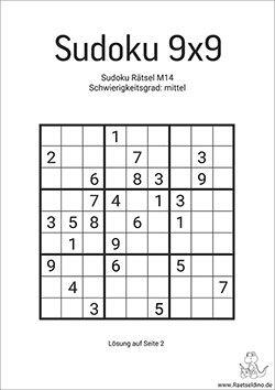 Sudoku Vorlagen Mittel Zum Ausdrucken Raetseldino 3
