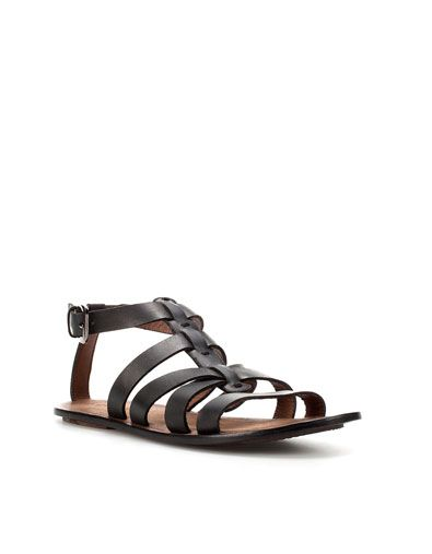 d6434bea00c3 CROSSOVER GLADIATOR SANDAL - Sandals - Shoes - Man - ZARA