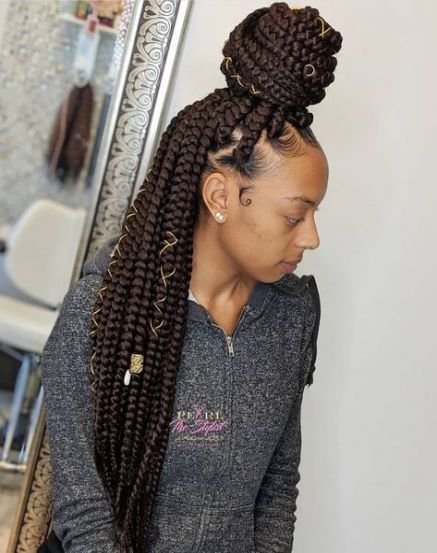 Hair Styles For School Black Girls Braids Natural Hair 16 Ideas Box Braids Hairstyles For Black Women Braided Hairstyles Braided Hairstyles Easy