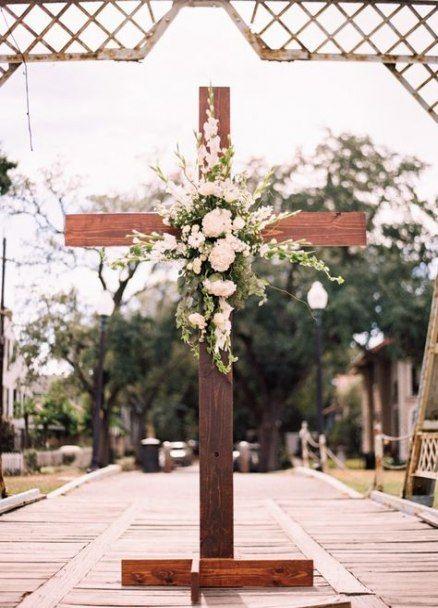 Wedding Ceremony Backdrop Cross 25 Ideas Outdoor Wedding