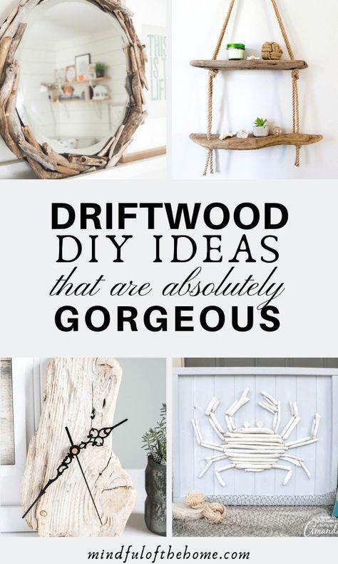 Wall Art Diy Ideas Drift Wood 62 Ideas In 2020 Driftwood Diy Diy Beach Decor Beach Bathroom Decor