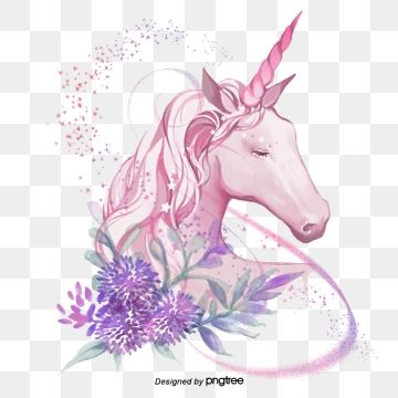 Legend Spatter Color Hand Painted Fantasy Romantic Unicorn Mythical Animals Sacred Myth Flowers And Plants Unicorn Illustration Unicorn Images Unicorns Vector