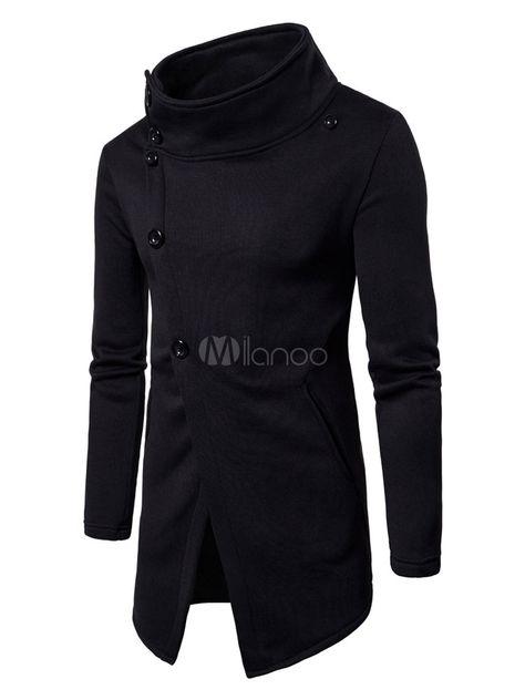 cuello en V Lachi dise/ño informal de Henley Camiseta de manga larga para hombre algod/ón