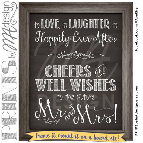 Wedding Rehearsal Chalkboard Sign Love by PRINTSbyMAdesign on Etsy