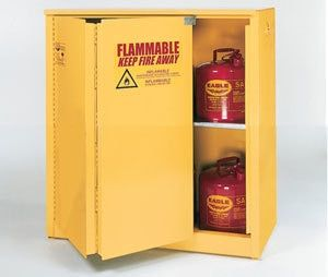Eagle 1930x Flammable Safety Cabinet Sliding Door 30 Gallon Closed Storage Cabinets Tall Cabinet Storage Cabinet