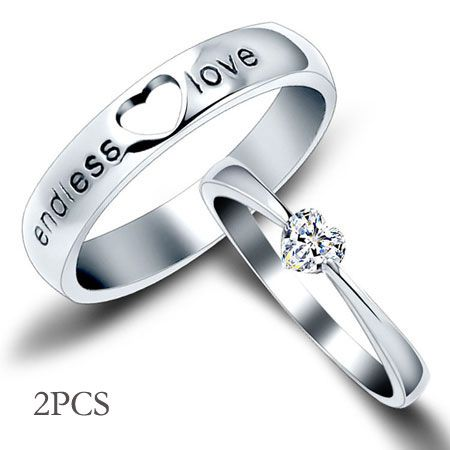 Heart Engraved Sterling Silver His And Her Wedding Ring Sets Cheap Egifts2u Com Cheap Wedding Rings Sets Cheap Wedding Rings Wedding Rings