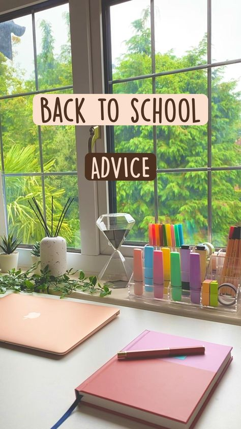 Back to school advice to have the best year of your life! Get good grades and live your best life