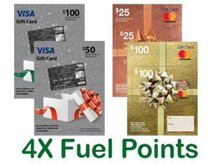 Get 4x Fuel Points On A Mastercard Or Visa Gift Card When You