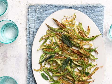 Recipe of the Day: Sunny's Fried Okra | Sunny's easy take on fried okra is for the okra lovers and the skeptics. She says it tastes like fries and it comes together in only 15 minutes — talk about a win-win!