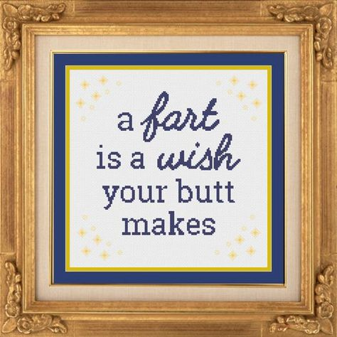 Thrilling Designing Your Own Cross Stitch Embroidery Patterns Ideas. Exhilarating Designing Your Own Cross Stitch Embroidery Patterns Ideas. Hand Embroidery Stitches, Cross Stitch Embroidery, Embroidery Patterns, Cross Stitch Patterns, Funny Embroidery, Bathroom Humor, Bathroom Signs, Haha Funny, Hilarious