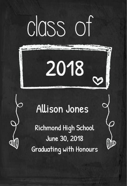 Free Printable Graduation Announcement Templates Greetings