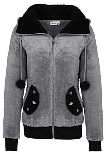 Sublevel Manteau femme en polaire | Veste de panda douce