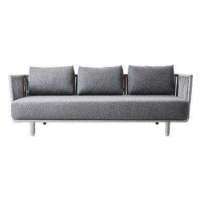 Cane Line Moments Patio Sofa Color Gray 3 Seater Sofa Grey