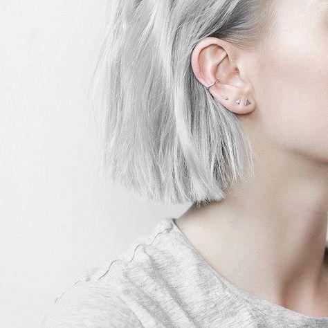 Vier minimalistische Ohrringe im Set. Hier entdecken und shoppen: http://sturbock.me/8y4