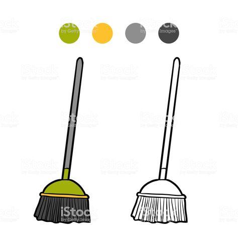 Resultado De Imagem Para Imagens De Vassouras Para Colorir Com