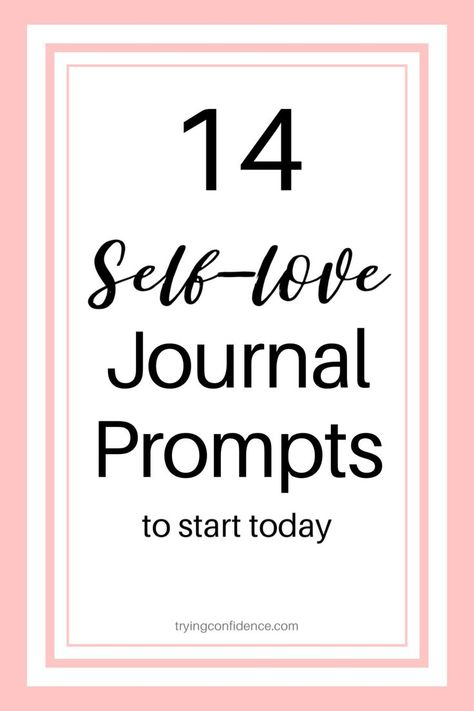 14 Journal Prompts to help you love yourself in 2020! #selfcare #selflove #selfimprovement