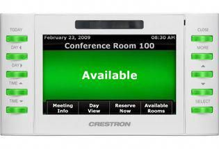 Crestron Touch Panel For All Rooms Home Automation Control Homeautomationtips Home Automation Room Reservation Home Surveillance
