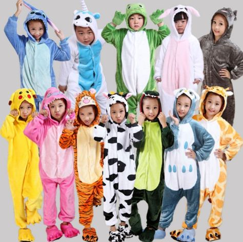 Hot Sale kids Pajamas Kigurumi Unisex Cosplay Animal Costume Cute Sleepwear