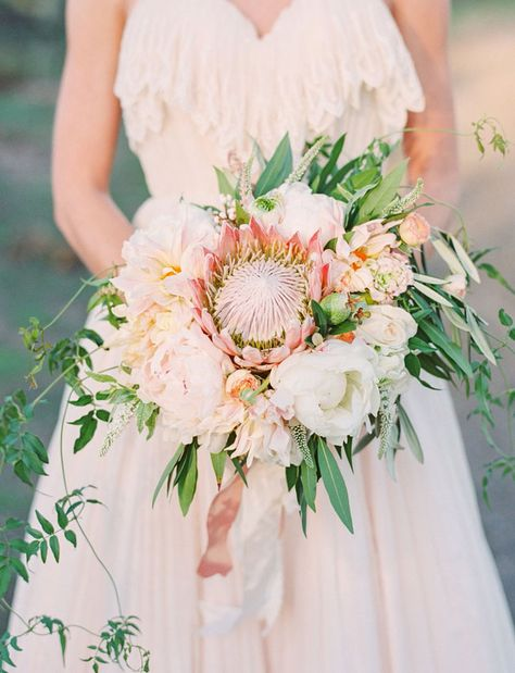 whimsical protea bouquet