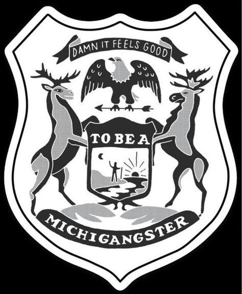 Sticker Michigan Shield