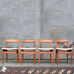 4er Set Mid Century Teak Stuhle 1960er Conni Kern Interior Vintage Mobel Und Designklassiker In Mannheim Vintage Stuhle Stuhle Vintage Mobel
