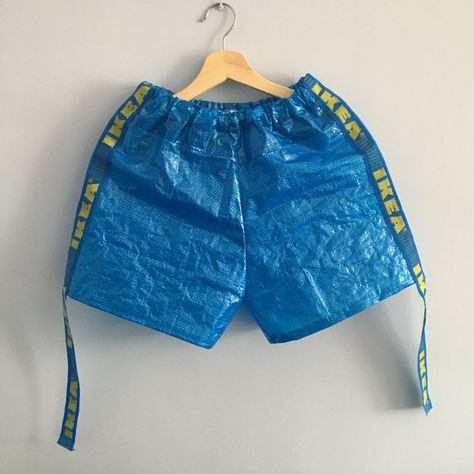 IKEA frakta bag material shorts Hand made Vetements inspired - Depop
