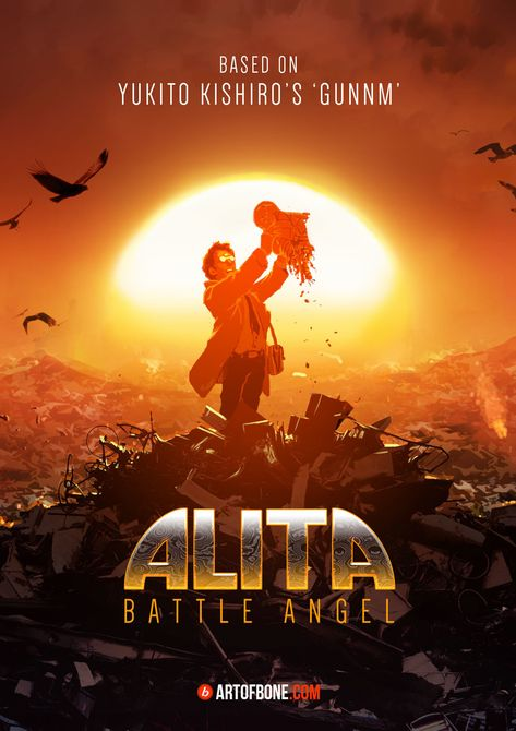 alita movie official posters art