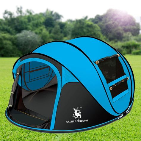 Gazelle Outdoors Camping Large Instant Pop Up Tent Double