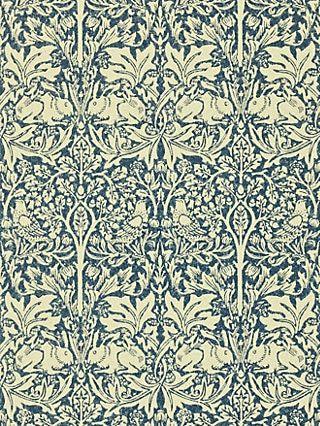 Morris Co Brer Rabbit Wallpaper Indigo Vellum Dmcw210411 Rabbit Wallpaper Morris Wallpapers William Morris Wallpaper