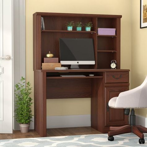 leith computer desk with hutch in 2018 home office desk hutch rh pinterest com au