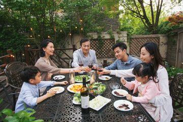 Happy Family Dinner In The Garden Affiliate Family Happy Garden Dinner Ad In 2020 Family Dinner Happy Family Garden