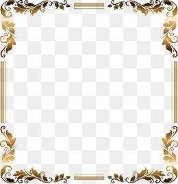 Vector Gold Frame Gold Frame Pattern Flower Boxes Png And