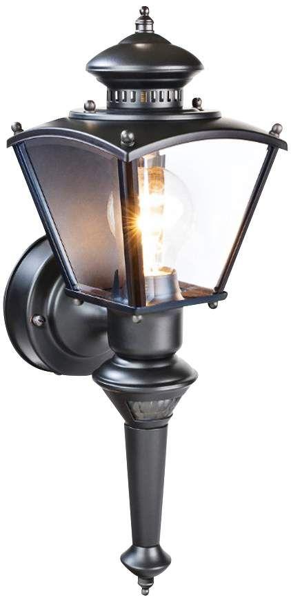 Charleston Coach Black Motion Sensor Outdoor Light