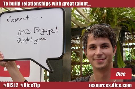 Give more than you get and keep on giving! #RIS12 #DiceTip - dice resume