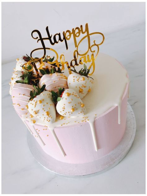 Birthday Cake For Women Simple, 18th Birthday Cake For Girls, 22nd Birthday Cakes, Birthday Cake For Him, Elegant Birthday Cakes, Happy Birthday Cake Images, Beautiful Birthday Cakes, Happy Birthday Cakes For Women, Birthday Ideas