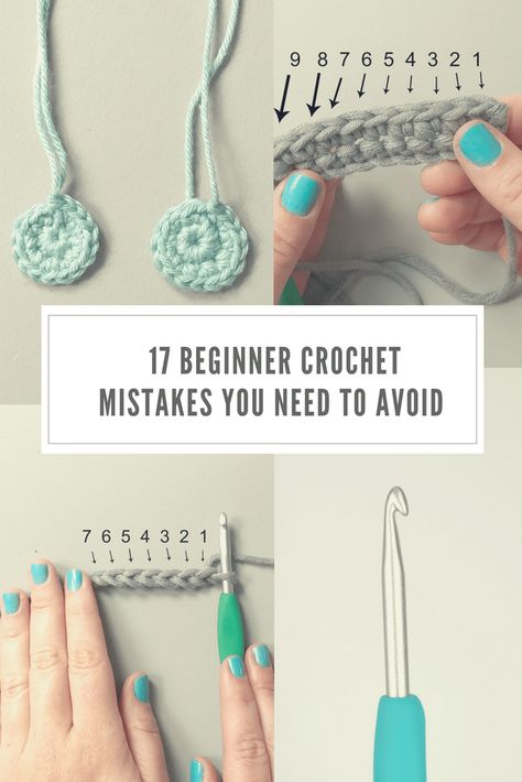 Looking for some beginner crochet tips? Look no further. These are the 17 things. Looking for some beginner crochet tips? Look no further. These are the 17 things you need to avoid Crochet Stitches For Beginners, Beginner Crochet Tutorial, Beginner Crochet Projects, Crochet Instructions, Crochet Basics, Beginner Crochet Patterns, Knitting Beginners, Crochet Crafts, Easy Crochet