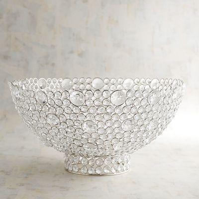 Clear Gems Bowl Bowl Decorative Bowls Vases Decor