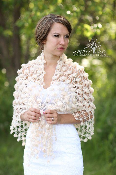 Bridal bolero Wedding boleroshawlshrugCrochet by MODAcrochet