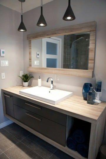 Bonitos decorativos espejos de madera para baños | Diseño de ...
