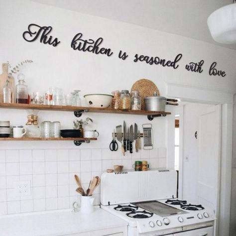 Deco Metal Cuisine Amour Avec Images Decoration Murale Cuisine