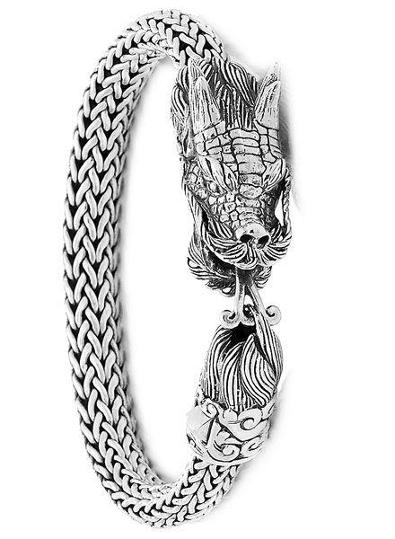 92fa7e1c863 Samuel B. Tulang Naga Dragon Sterling Silver & 18K Gold Bracelet, Sterling  Silver Gram weight is 51.78, 18K Gold Gram weight is 0.013 Bra… | ROYAL BALI  in ...