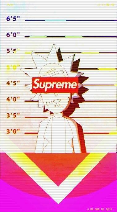 Supreme Rick And Morty Supreme Rickandmorty Supreme Wallpaper Rick And Morty Iphone Wallpaper
