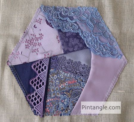 2020 Crazy Quilt block 17 - Pintangle -  2020 Crazy Quilt block 17 – Pintangle  - #Block #Crazy #CrazyQuilting #CrewelEmbroidery #EmbroideryStitches #JapaneseEmbroidery #Pintangle #Quilt #VintageEmbroidery