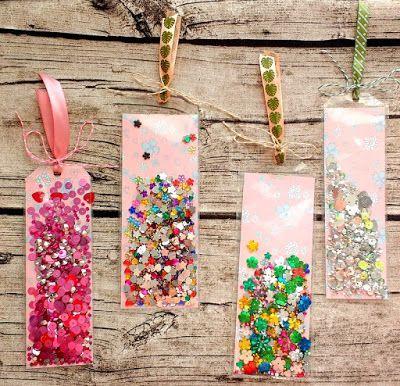 Shaker Bookmarks Bookmarks Diy Kids Bookmark Craft Bookmarks Handmade