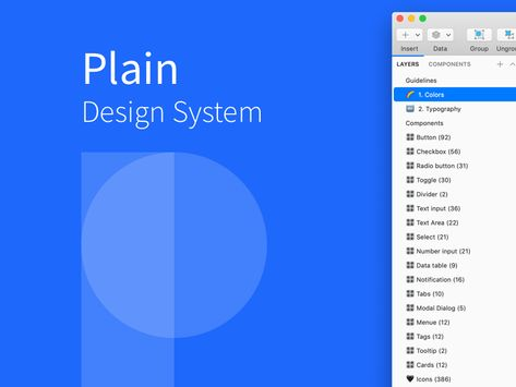 Plain Design System Sketch Freebie