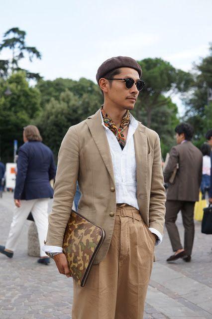 Vestiti Eleganti Firenze.1853 Khaki Style Firenze Uomini Moda Casual Abbigliamento