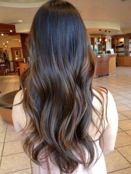 19 Ideas For Hair Color Flamboyage Dark Brown Natural Black Hair Balayage Long Hair Styles Hair Styles