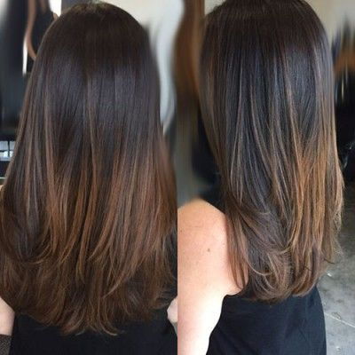 Extensions Clips D02 Ombre Tie Dye Dark Brown Chocolate Bebihair Natural Hair Long Layered Hair Straight Be In 2020 Long Brunette Hair Ombre Hair Natural Hair Styles