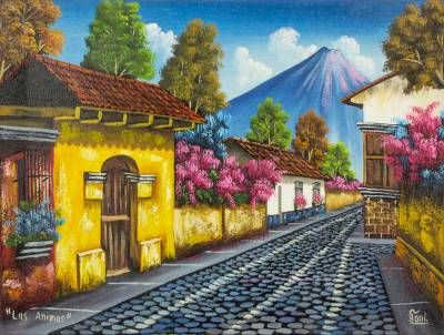 Calle De Las Animas I Mexican Paintings Cottage Art Painting
